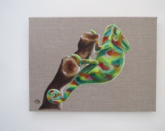 Chameleon - Original painting