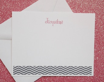 Personalized thank you note cards set of 25