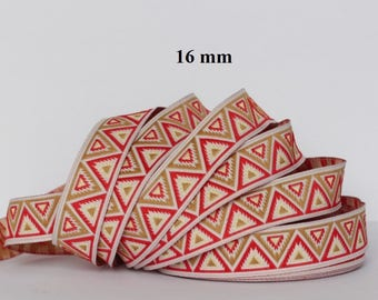 Width 16 mm jacquard embroidered Ribbon