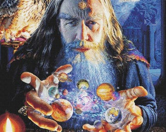 Wizard's World - emailed PDF cross-stitch chart / pattern, original art © Adrian Chesterman  licenced by Paine Free Crafts