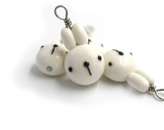 Polymer Clay Rabbit Head Charm