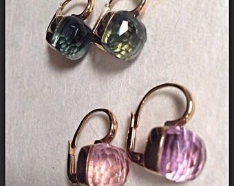 """""""Caramel"""" earrings in 925 sterling silver"""