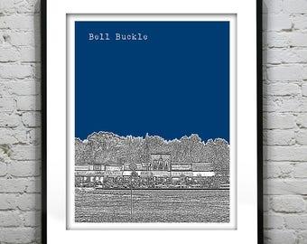 Bell Buckle Skyline Poster Art Print Tennessee TN Version 1
