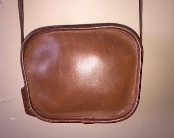 COACH VINTAGE Brown Leather Hadley Zip Crossbody Shoulder Bag #9935 USA