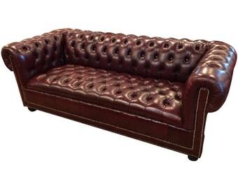 Burgundy Chesterfield Sofa