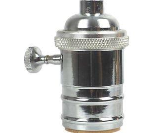 Nickel Lamp Socket - Cast Brass - Lamp Socket - Premium Quality