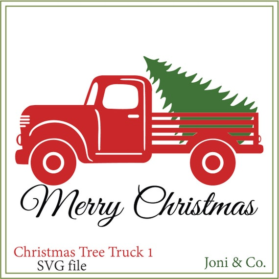 Christmas Tree Truck SVG Signs Printable Cards Svg Country Rustic Farm Glass Blocks