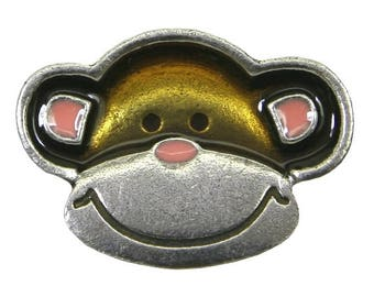 Danforth Monkey 1 inch ( 24 mm ) Pewter Button