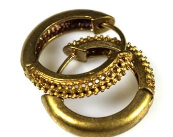 """2 pcs  raw brass earring leverback rhinestone blanks findings 22 mm 0,87"""""""