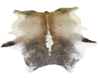 Glacier Wear Longhorn Cow Hide Leather Hair-On Rug #075