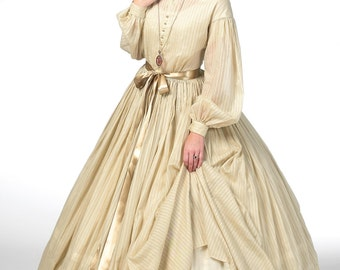 Civil War Dress 1860 Pattern - Butterick B5831 -Historical Gathered Dress with Petticoat -Sizes: 8 -10 -12 -14 -16 or 16 -18 -20 -22 -24