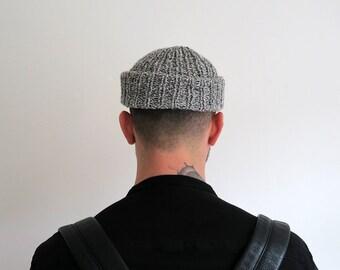 Fisherman beanie hat, men's beanie, knit hat, hand knit beanie, men's cap, vegan-friendly