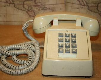 ITT Push Button Desk Phone - Off White - item #2247