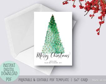 pdf christmas card etsy