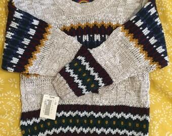 Vintage Hipster Kids New Era Sweater