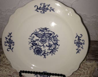 Blue and White Plates, Set of 6 Blue and White  Plates