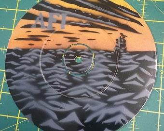 "AFI - Black Sails in the Sunset - Custom 7"" EP Stencil Art"