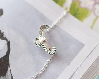 Silver Eagle Jewellery, Eagle Charm Necklace, Eagle Pendant, Eagle Necklace, Eagle Choker, Bird Necklace, Teenager Gift, Eagle,