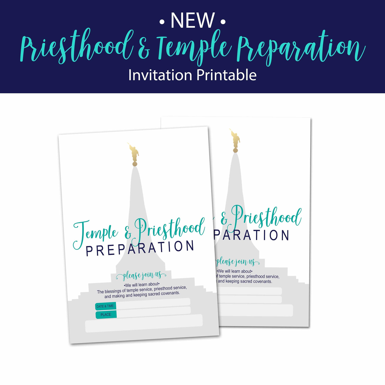 lds priesthood and temple preparation invitation
