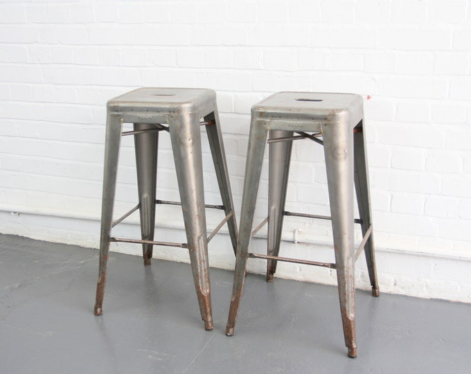 Stacking Stools By Xavier Pauchard For Tolix Circa 1950s