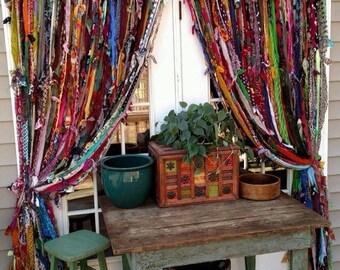 Boho handmade curtains!