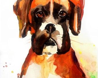 Custom Dog portrait Custom Dog Painting Custom Pet portrait Watercolor Painting Original Painting Memorial Art Custom Portrait