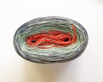 CAROLINA MEDLEY III  --mega-- Color Changing Cotton yarn  865 yards/180 gr  Fingering Weight