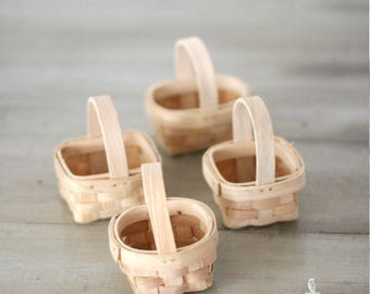 Small Wood Baskets Unfinished