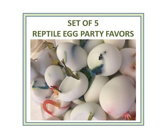 5 Reptile Party Favors - Birthday Party - Zoo Theme Party - Lizards -Snake Eggs - Soap Eggs - Snake Party Favor - Zoo - Birthday Party Favor