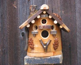 Rustic Elm Birdhouse #5