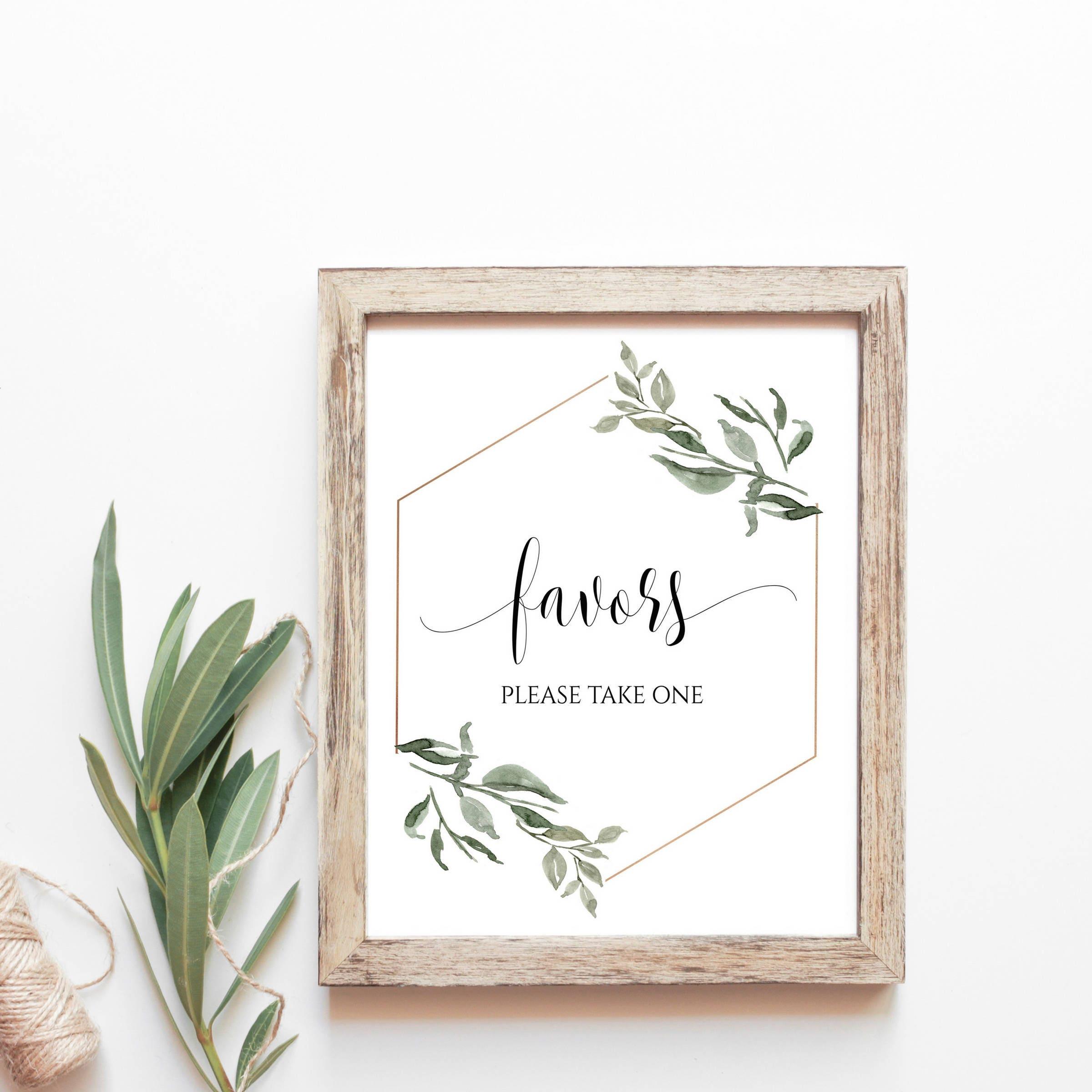 Favors Sign Download Favors Sign For Wedding Favors Sign