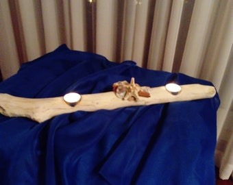 Driftwood candleholder,driftwood candelabra,nautical decor,beach,coastal,centerpiece,cottage,wood,wedding deco,starfish,shells,rustic,summer