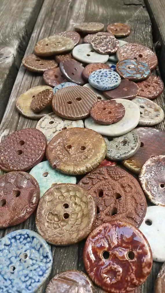 Clay Buttons Noborigama Wood Fired