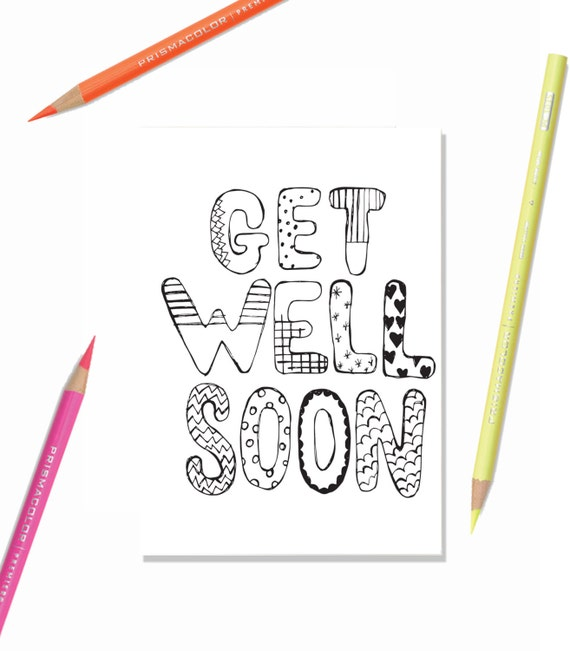 Printable Greeting Card Get Well Soon Kids - Get well soon card template