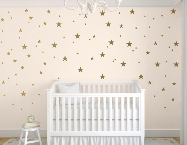 Gold Star Decals Star Wall Decal Nursery Wall Decals Star - Baby room decals