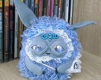Monster, textile toy, blue monster doll, gift for children,