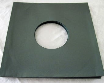 "Lot of 24 NEW Paper Record Sleeves for 10"" 78 RPM Records 30# Acid-Free Green Color"