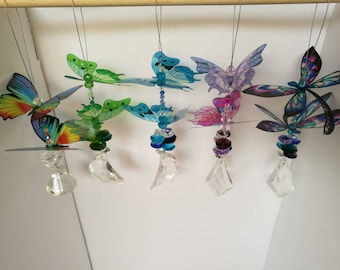 Butterfly and dragonfly suncatchers