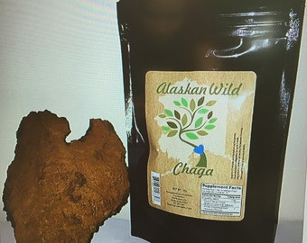 Alaskan Wild Chaga Tea (course ground)