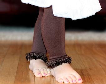 Chocolate Brown Baby Leg Warmers