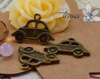 set of 10 QWP185 pendant brass Automobile cars, vehicles