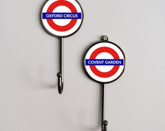 London Underground Tube Station Landmark Coat Hooks