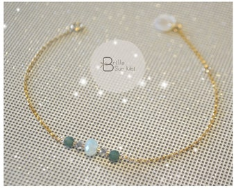 Bracelet Or 14 K Gold filled beads Swarowski - BrilleSurMoi.