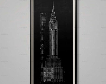 Empire state building blueprints architecture plans chrysler building blueprint elevation plans chrysler building floorplan chrysler building architecture malvernweather Gallery