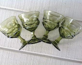 4 vintage green fostoria argus water goblets Westmoreland Ashburton Green wine glasses wedding shower glass sherbet ch&agne replacements & Ashburton | Etsy