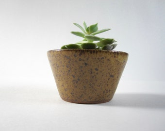Medium Honey Speckled Stoneware Planter