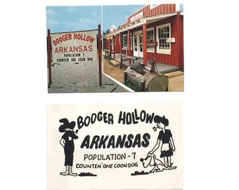 Vintage Booger Hollow Arkansas Post Cards - Set of 2