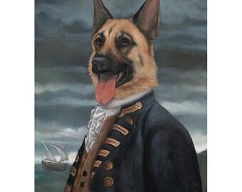 German Shepherd, Prints, Admiral Shepherd, German Shepherd Art,  Pet Gag Gift