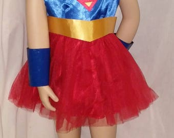 Super Girl Costume   -- Made to order