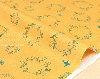 Japanese Fabric Nina Flower Garland - mustard - 50cm